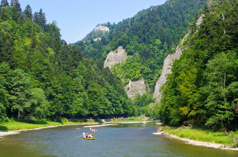 Dunajec river in Pieniny mountains - Poland